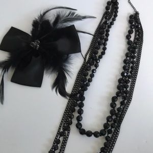Black Necklace and pin